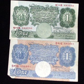 old british banknotes-1940s and world war 2. - World Coins