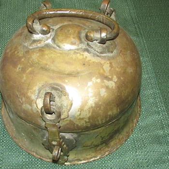 Antique  Medieval metal carrying case What is it???