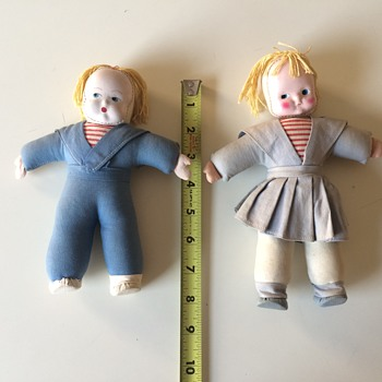 "Sailor Doll Boy & Girl 8"" face mask and cloth? - Dolls"