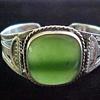 Navajo Jade silver cuff