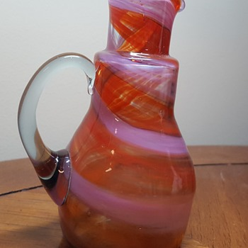 Small Art Glass Pitcher - Art Glass