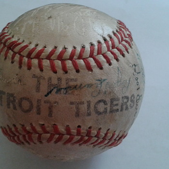 Detroit Tigers mid to late 40's - Baseball