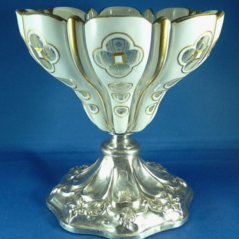 BIEDERMEIER CANDY DISH OR COMPOTE, NOT Baccarat and french silver ??