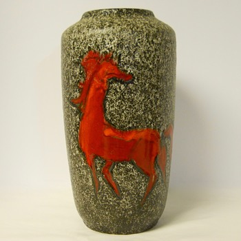 "Post 1 of 2, Western Germany""Red Horse""Circa 1950-60 - Art Pottery"