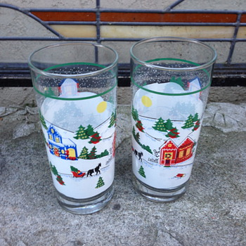 Looking for more of these xmas glasses.  - Glassware