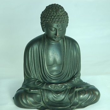 Bronze Cast Meditating Buddah - Asian