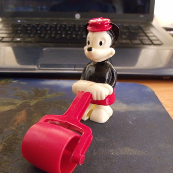 Circa 1950's Marx Toys Mickey Mouse Ramp Walker