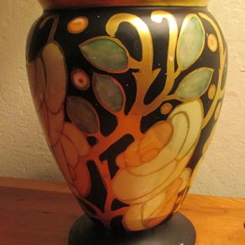 Dumler & Breiden Art Nouveau Porcelain Vase, hand painted - Art Nouveau