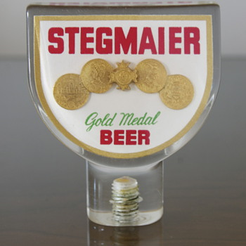 Stegmaier Beer Tap Handle mid 1950s - Breweriana