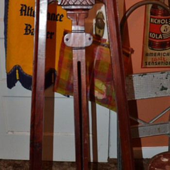 Carved Mahogany Easel