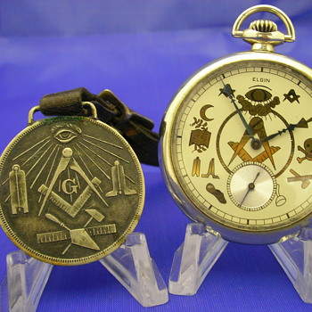1912 Masonic Pocket Watch by Elgin - Pocket Watches