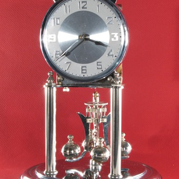 Kundo Nickel Plated 400 Day Clock
