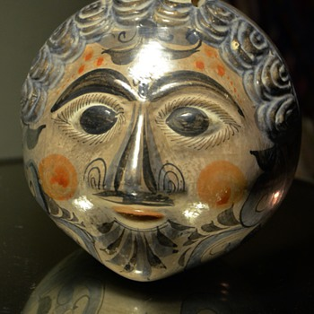 Tonala Pottery Face Bank - 1920s to 1950s - Art Pottery