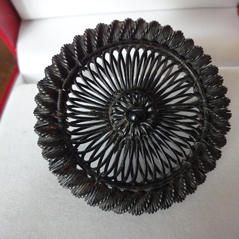 IRON BERLIN SILESIAN WIRE WORK BROOCH 18s  - Fine Jewelry