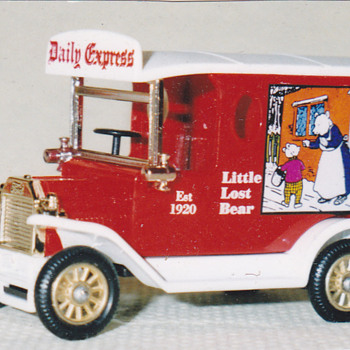 My Lledo made Rupert Bear Model 'T' Ford Van - Model Cars