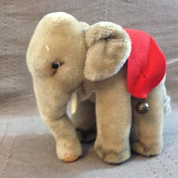 Steiff Elephant with Red Felt Saddle