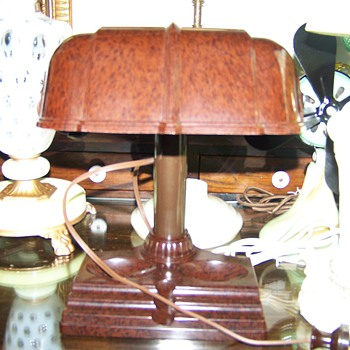Bakelite desk/bankers lamp - Lamps