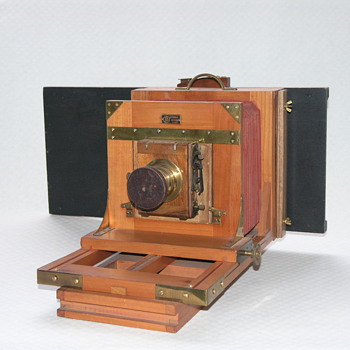 DeMaria-LaPierre French Studio Camera, 1880. - Cameras