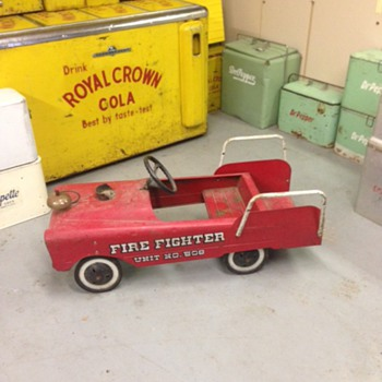 Fire Fighter Pedal Car - Toys