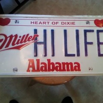 Miller high life tin sign (Alabama Theme).2FT BY FT AND HALF - Signs