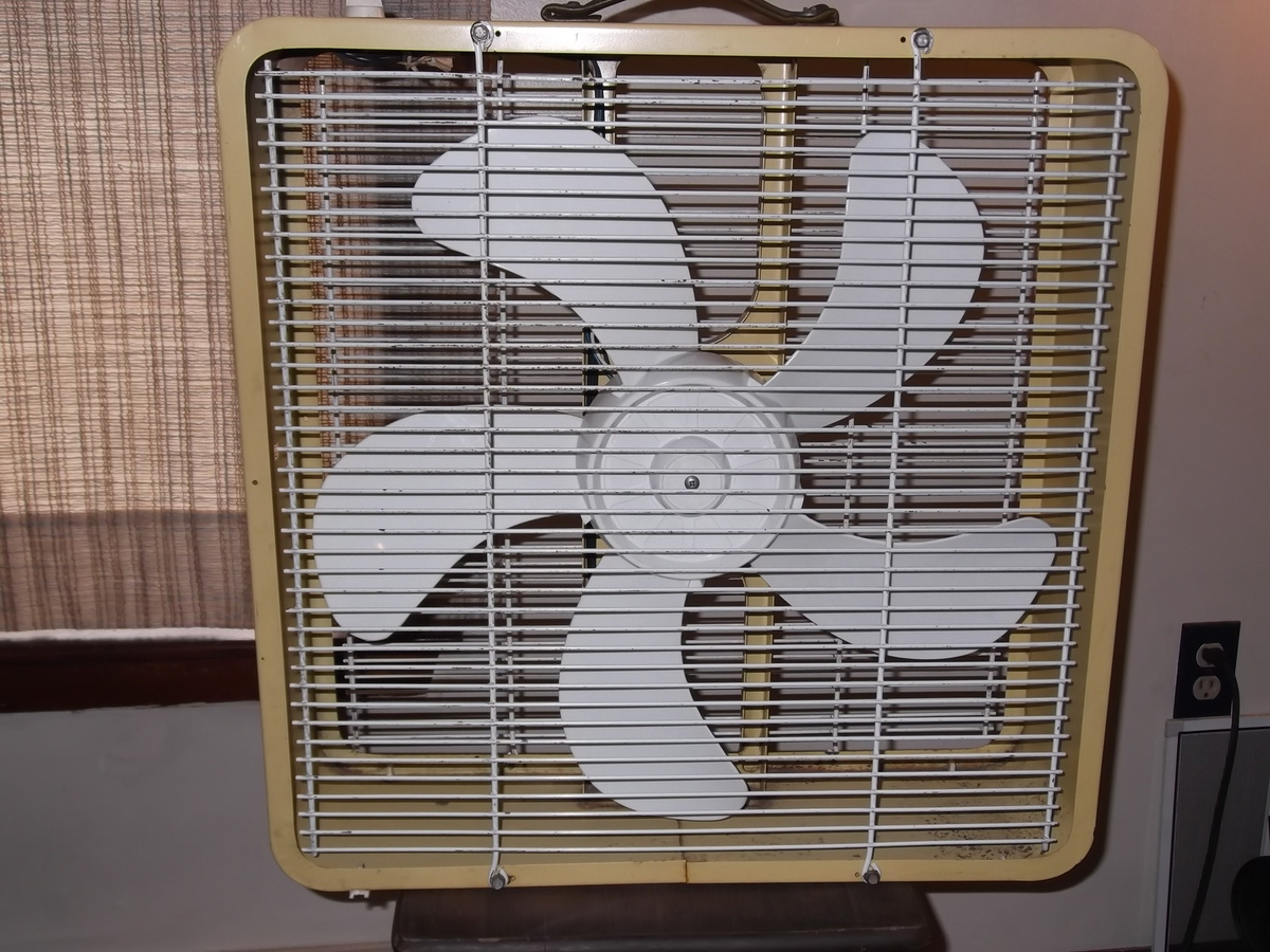 Metal Box Fan 20 Inch for Pinterest #7F674C