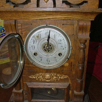 New Haven Clock Co. 8 Day Russia Model Cabinet Clock with Alarm - Clocks
