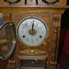 New Haven Clock Co. 8 Day Russia Model Cabinet Clock with Alarm