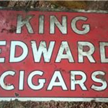 king edwards 2 sided 5x6 ft porcelain sign