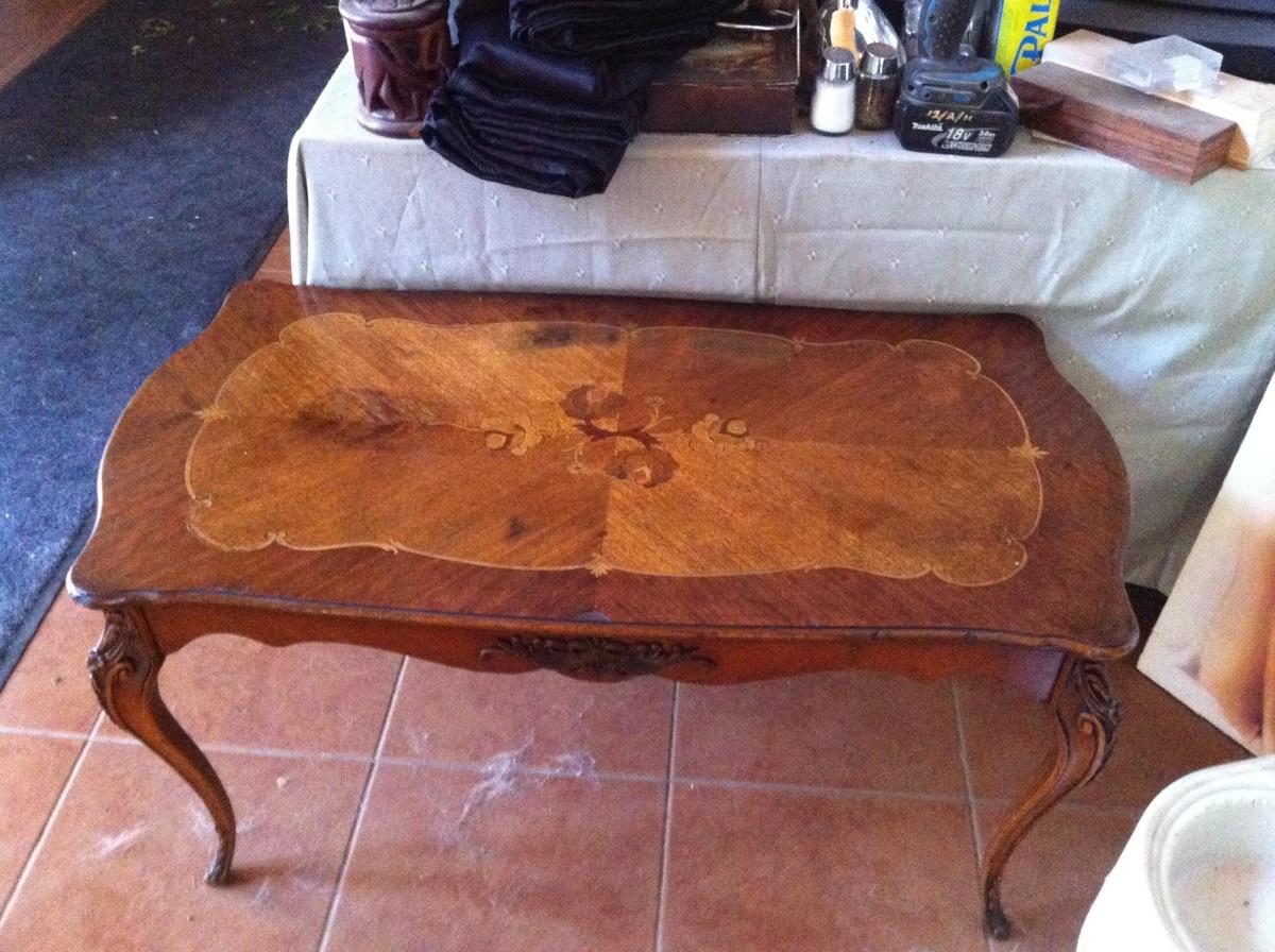 Inlay Coffee Table ~ Beautiful vintage wood inlay coffee table collectors weekly