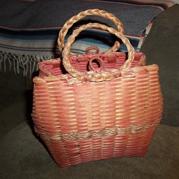 Maine Wabanaki Purse Basket