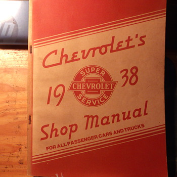 Posting for gargoylecollector to see...NOS 1938 Chevrolet Service Manual - Classic Cars