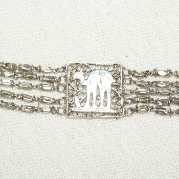 Egyptian Revival Filigree and Beads Bracelet (I think)