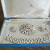 Sherman Parure set of Brooch, Earrings and Bracelet