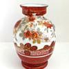 Japanese Kutani-style Glass vase c. 1880 attrib. to Harrach