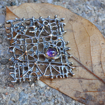 Mysterling Scandinavian? Sterling brooch/pendant - Fine Jewelry