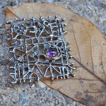 Mysterling Scandinavian? Sterling brooch/pendant - Fine Jewelry