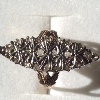 Large Art Deco or Georgian ? 14k diamond ring - Fine Jewelry