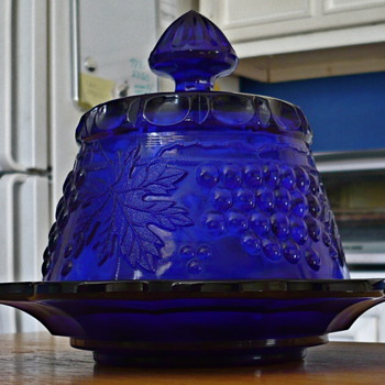 Cobalt Butter Dish - Glassware