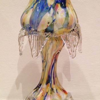Welz pastel découpage floriform footed vase