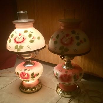 Heavy hurricane lamps.