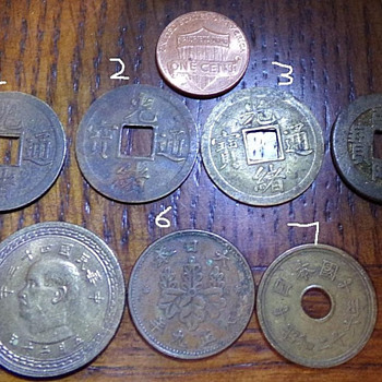 Oriental Coins, from 1736-1954 - World Coins