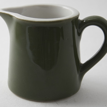 Hall Individual Creamer and a Hall Holding Vessel