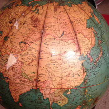 Mid-20th century Globe (George F. Cram Company)