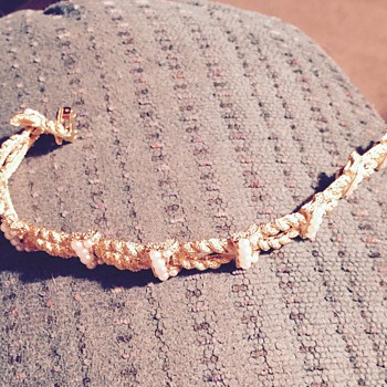 Grandmothers tifari gold bracelet with pearls