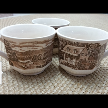 Three Dreamy Homestead HandPainted Cups