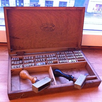 Antique letter press/stamping set  - Office