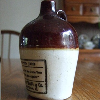 Sample Jug from the Detrick Distilling Co. - China and Dinnerware