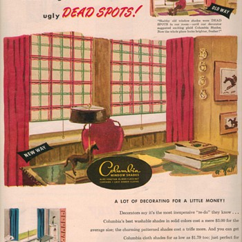 1950 Columbia Window Shades Advertisement - Advertising