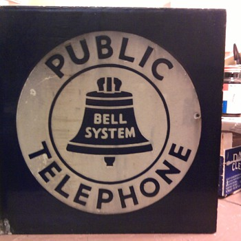 Public Telephone Porclin sign, 2 sided - Signs