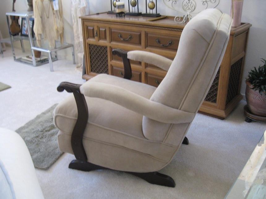 ... furniture furthermore Vintage Upholstered Rocking Chair Siji